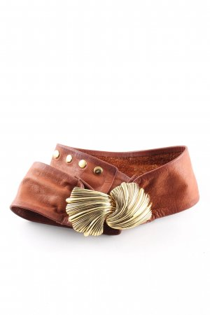 Hallhuber Waist Belt brown-gold-colored casual look