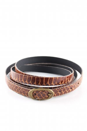 Hallhuber Waist Belt brown animal pattern casual look