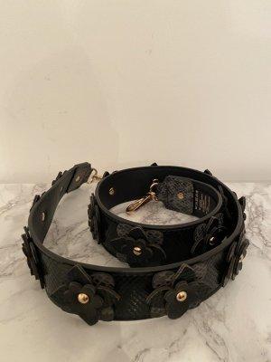 Hallhuber Faux Leather Belt black-sand brown