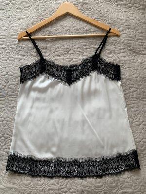 Hallhuber Blouse topje wit-zwart