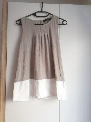 Hallhuber Camicia a tunica crema-grigio