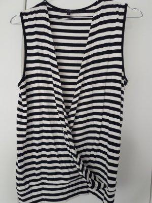 Hallhuber trend Camisa cruzada blanco-negro