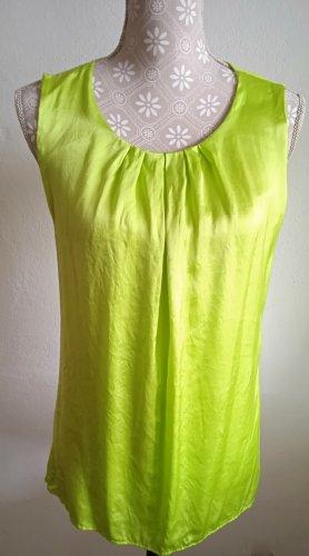 Hallhuber Basic topje neon groen-weidegroen Katoen