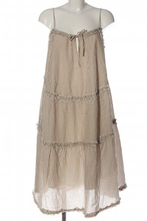Hallhuber Sukienka na ramiączkach brązowy-biały Wzór w paski W stylu casual