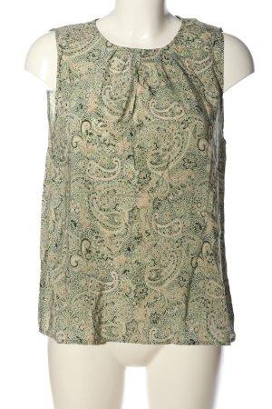 Hallhuber Trägertop grün-hellorange abstraktes Muster Casual-Look