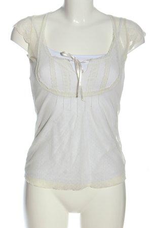 Hallhuber Transparenz-Bluse weiß Casual-Look