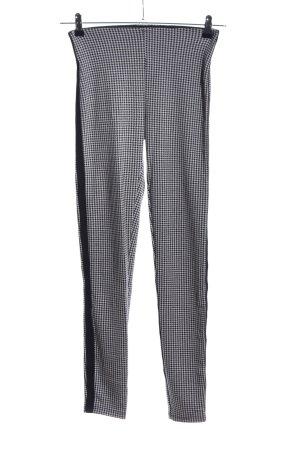 Hallhuber Tregging gris clair-noir motif à carreaux style décontracté
