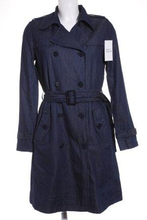 Hallhuber Trenchcoat dunkelblau klassischer Stil