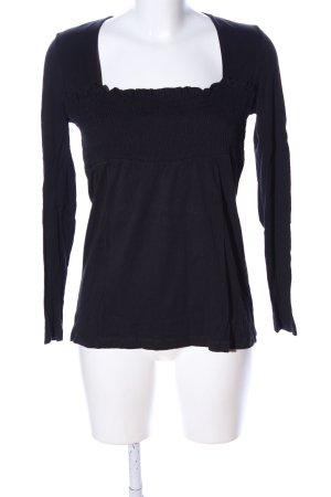 Hallhuber trend Langarm-Bluse schwarz Casual-Look