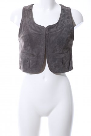 Hallhuber trend Leather Vest light grey casual look