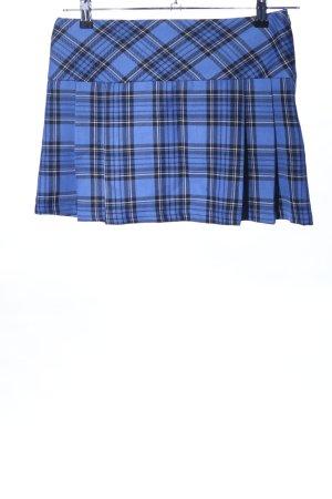 Hallhuber trend Minifalda azul-negro estampado a cuadros elegante