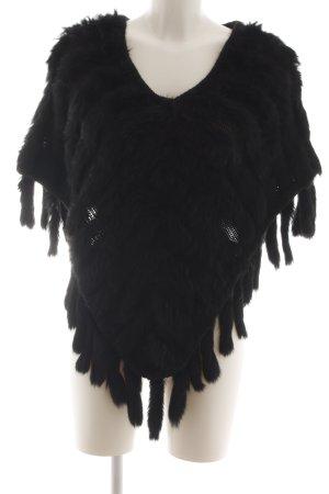 Hallhuber trend Poncho noir style extravagant