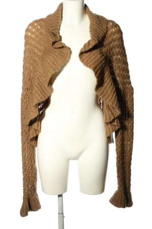 Hallhuber trend Knitted Bolero brown casual look