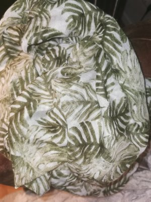 Hallhuber Chal veraniego blanco puro-caqui