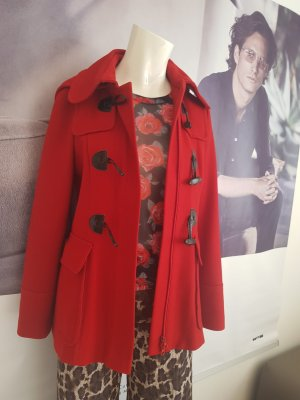 hallhuber tufflecoat jacke rot wie neu 34 transparentes shirt 34