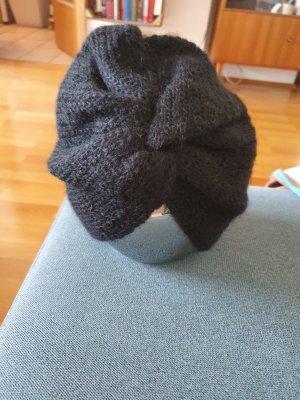 Hallhuber Chapeau en tricot noir