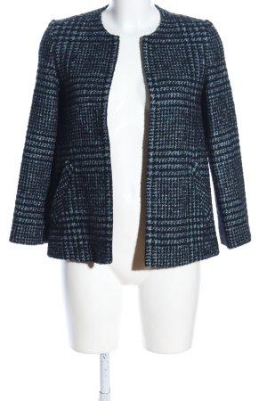 Hallhuber Tweedblazer blau-schwarz Allover-Druck Business-Look