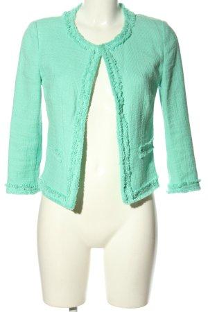Hallhuber Tweed Blazer turquoise casual look
