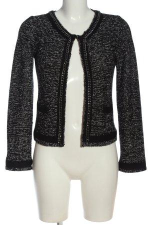 Hallhuber Tweedblazer schwarz-weiß meliert Casual-Look