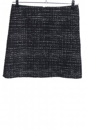 Hallhuber Falda Tweed negro-blanco moteado look casual