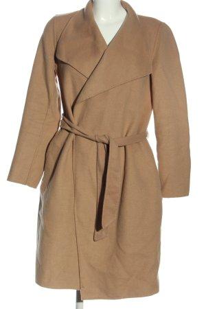 Hallhuber Abrigo de entretiempo marrón look casual