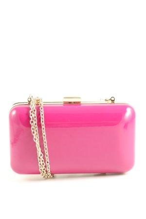 Hallhuber Umhängetasche pink-goldfarben Casual-Look