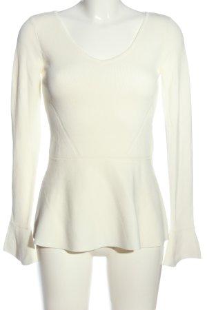 Hallhuber V-Ausschnitt-Pullover wollweiß Casual-Look