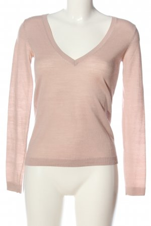 Hallhuber V-Ausschnitt-Pullover pink Casual-Look