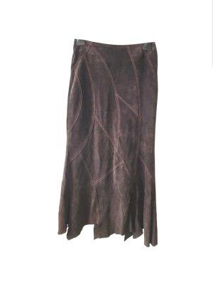Hallhuber Leather Skirt brown