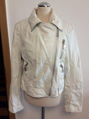 Hallhuber Biker Jacket white