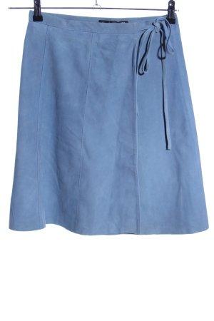 Hallhuber Falda cruzada azul look casual