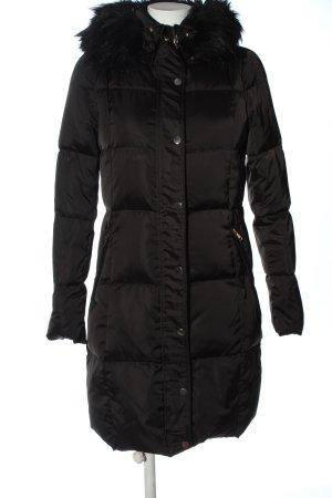 Hallhuber Kurtka zimowa czarny Pikowany wzór W stylu casual
