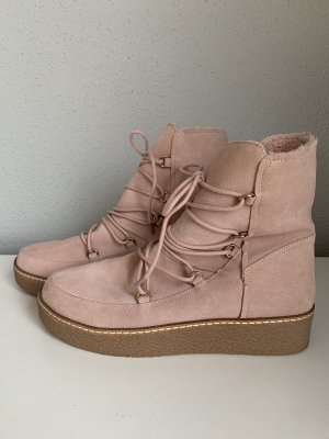Hallhuber Lace-up Boots dusky pink
