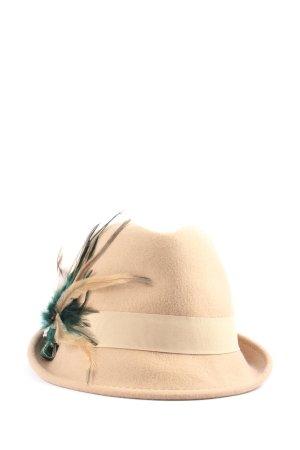 Hallhuber Wollen hoed nude-groen elegant