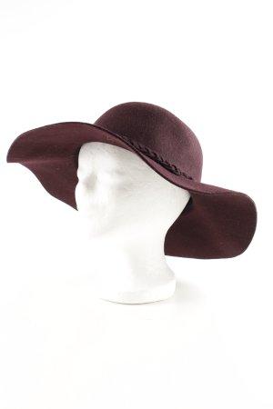 Hallhuber Wollen hoed rood zakelijke stijl