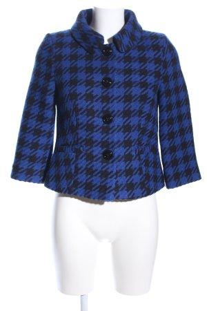 Hallhuber Veste en laine bleu imprimé allover style d'affaires