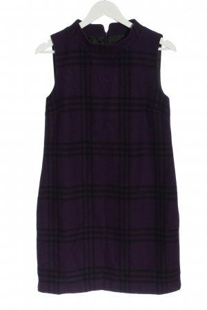 Hallhuber Vestito di lana lilla stampa integrale elegante