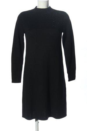 Hallhuber Wollen jurk zwart zakelijke stijl