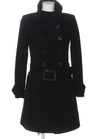 Hallhuber Manteau en laine noir style d'affaires