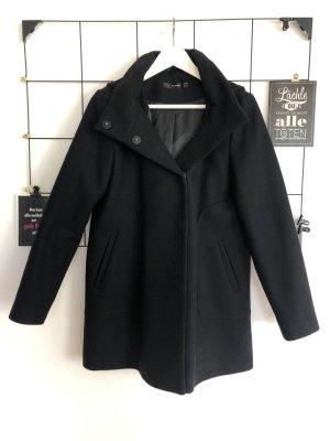 Hallhuber Wollmantel Mantel Wolle Jacke schwarz