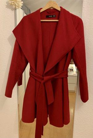 Hallhuber Wool Coat dark red