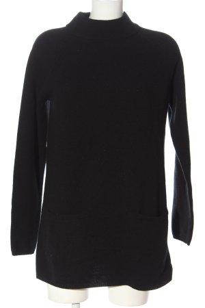 Hallhuber Maglione di lana nero stile casual
