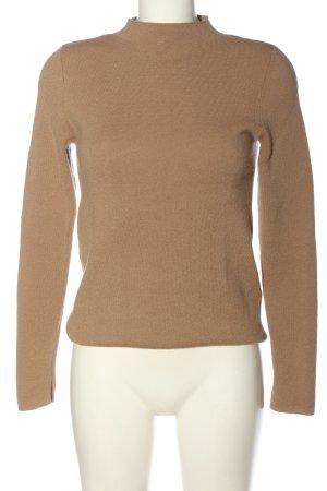 Hallhuber Wełniany sweter nude Melanżowy W stylu casual