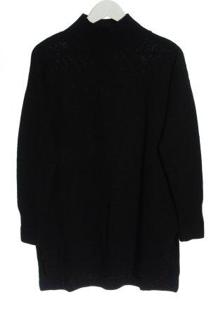 Hallhuber Pull en laine noir style décontracté