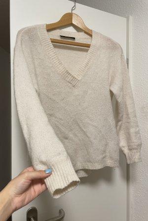 Hallhuber Wool Sweater natural white-white