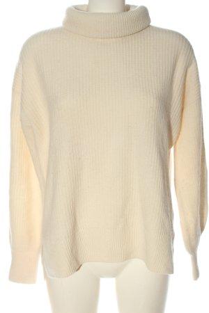 Hallhuber Pull en laine crème style décontracté