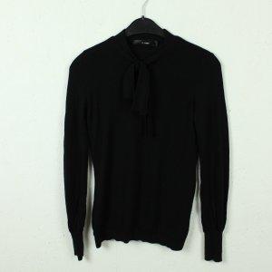 Hallhuber Pull en laine noir laine