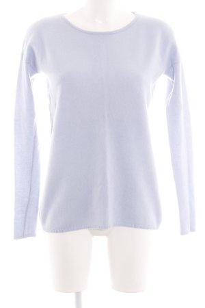 Hallhuber Pull en laine violet tissu mixte