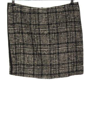 Hallhuber Wollen rok wit-zwart geruite print casual uitstraling