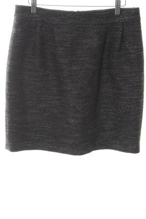 Hallhuber Wollrock schwarz-silberfarben Schimmer-Optik